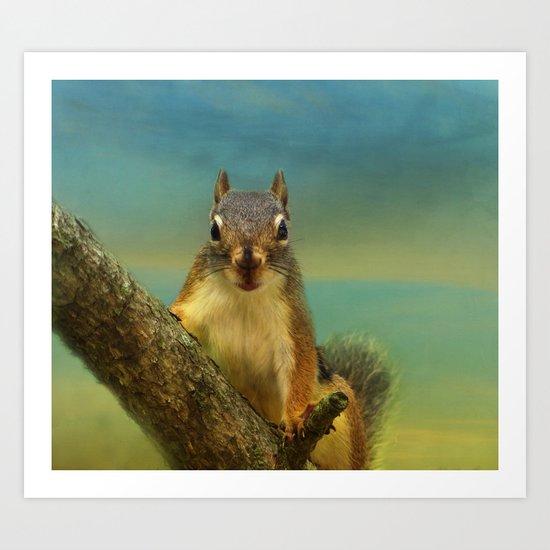 Little Red Squirrel Art Print