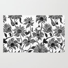 Sunflowers – Black Palette Rug