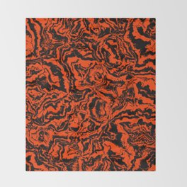 modern scramble, black and red Throw Blanket