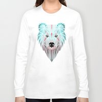 polar bear Long Sleeve T-shirts featuring polar bear by Manoou