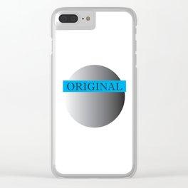 Pluto's Original (Blue) Clear iPhone Case