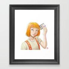 The Fifth Element - Leeloo Multipass Framed Art Print