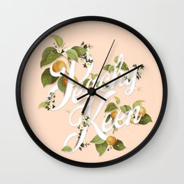 Peachy Keen : Peach Wall Clock