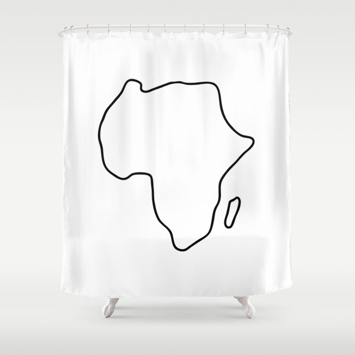 Africa African continent map Shower Curtain