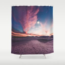 Moon gazing Shower Curtain