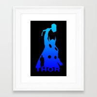 thor Framed Art Prints featuring Thor by Sport_Designs