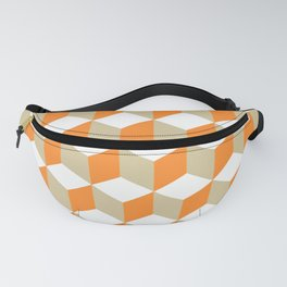 Diamond Repeating Pattern In Russet Orange and Grey Fanny Pack