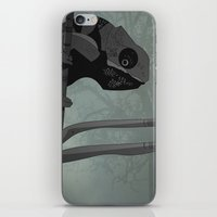 chameleon iPhone & iPod Skins featuring Chameleon by Andrew Formosa