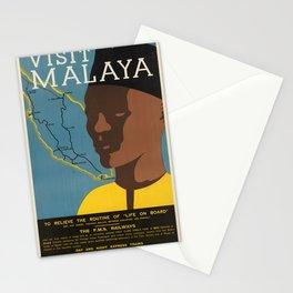 Vintage poster - Malaya Stationery Cards