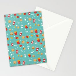 Burgers pattern Stationery Cards