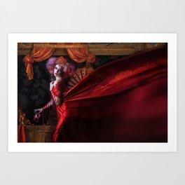 Madame Carnival Art Print