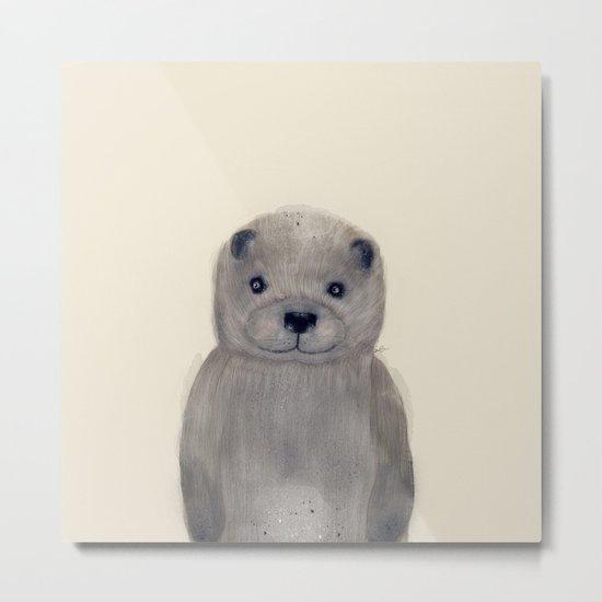 little otter Metal Print