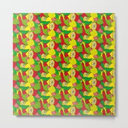 Colorful pattern with fruits and vegetables Metal Print
