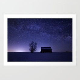 Adirondack Milkyway over Norman Ridge Art Print
