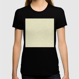 Delicate ivory colored kaleidoscope T-shirt