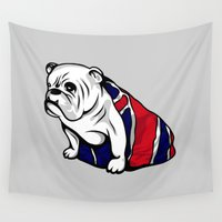 british Wall Tapestries featuring British Bulldog by Pancho the Macho