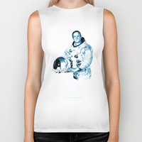 neil gaiman Biker Tanks featuring Neil Armstrong Tribute by Largetosti