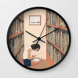 Getting Lost in a Book Wall Clock