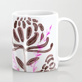 Flower Power: A Study in Pink, Black and White Coffee Mug
