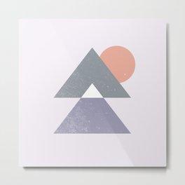Mountain Peaks Sunset Metal Print