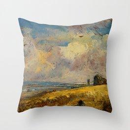 "John Constable ""The Skylark, Dedham"" Throw Pillow"