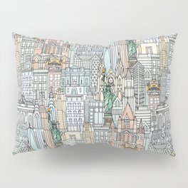 New York watercolor Pillow Sham