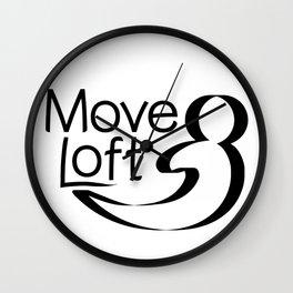 Move Loft Logo Wall Clock