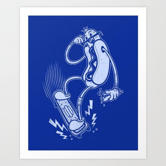 Skate or Dog Art Print