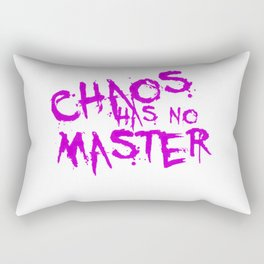 Chaos Has No Master Purple Graffiti Text Rectangular Pillow