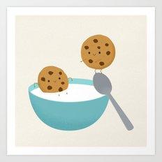 Two cookies Art Print