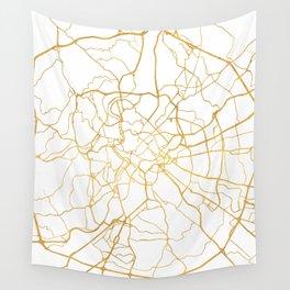 ROME ITALY CITY STREET MAP ART Wall Tapestry