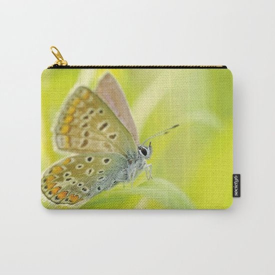 zen style butterfly green outdoor Carry-All Pouch