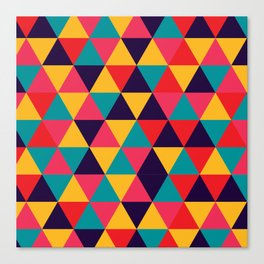 Colorful Triangles (Bright Colors) Canvas Print