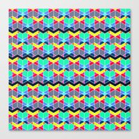 batik Canvas Prints featuring Batik by AZRI AHMAD