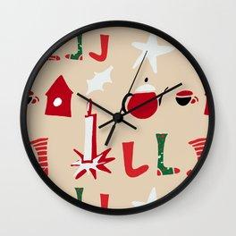 Christmas Cosy Ivory Wall Clock