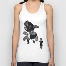 Bear and girl Unisex Tank Top