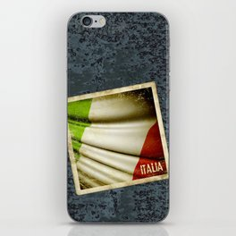Grunge sticker of Italy flag iPhone Skin