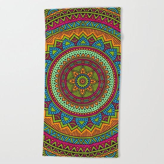 Hippie mandala 53 Beach Towel