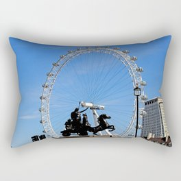 Boadicea supporting the London eye Rectangular Pillow
