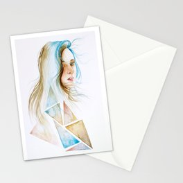 You have to lose your mind in the wind, to find yourself. Stationery Cards