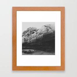 Beach Cliff Framed Art Print