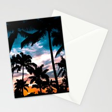 Palm trees dream Stationery Cards