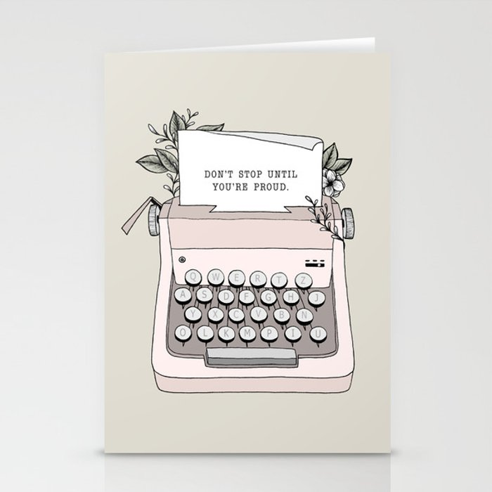 Don't Stop Stationery Cards