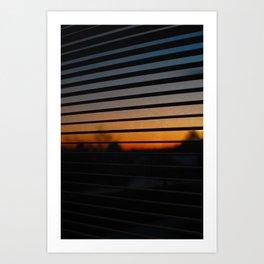 Sunset Patterns Art Print