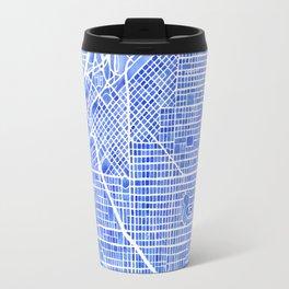 Denver Blueprint City Map Watercolor Travel Mug