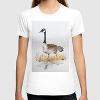 canada T-shirts featuring Bernache du Canada (Canada Goose) by Condor