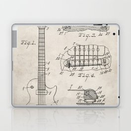 Gibson Guitar Patent - Les Paul Guitar Art - Antique Laptop & iPad Skin