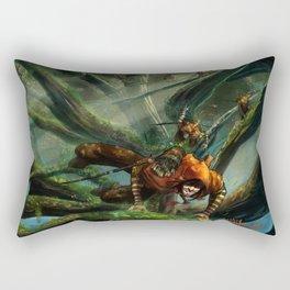 Forest Parkour  Rectangular Pillow