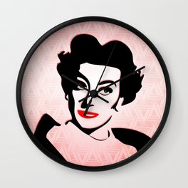 Joan Crawford - Pop Art Wall Clock