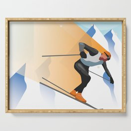 SKIING Serving Tray